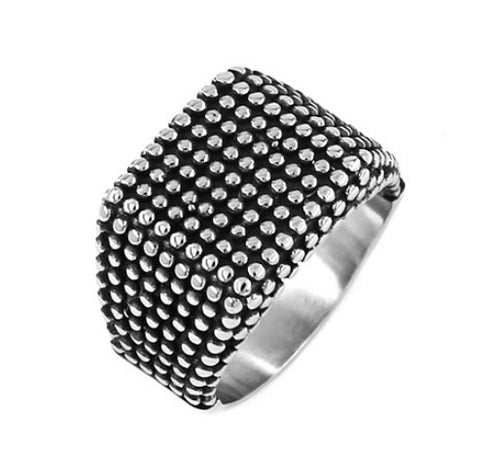 Fashion Band Biker Signet Nails Ring Stainless Steel Jewelry Classic Silver Black Motor Biker Men Ring Wholesale SWR0671