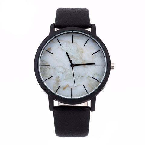 Marble Style Leather Quartz Watches Women Mens Watch Luxury Stainless Steel Military Sport Dial Wrist Watch Relogio Masculino