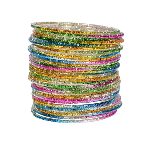 Wholesale 50pcs/Lot Colorful Loop Bracelet Alloy Thin Circle Bangle Chromatic Aluminum Charm Cuff Bracelet For Children