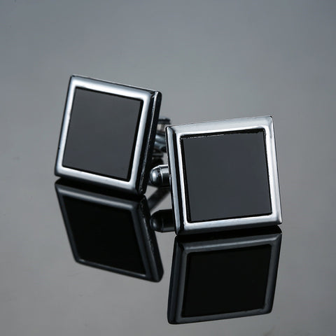 Classic men's new black box Cufflinks Cufflinks French wedding dress shirt accessories 1 double