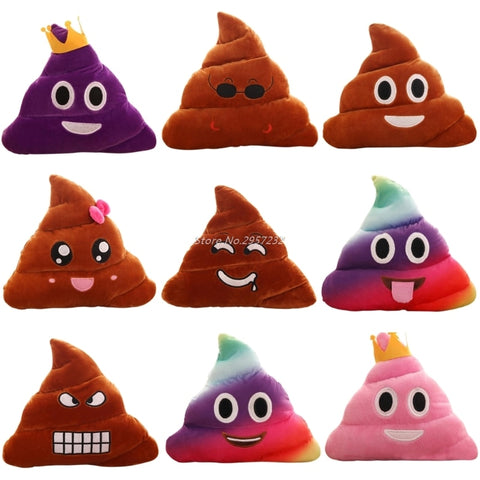 Poop Poo Family Emoji Emoticon Pillow Stuffed Plush Toy Soft Cushion Doll Z07 Drop Shipping