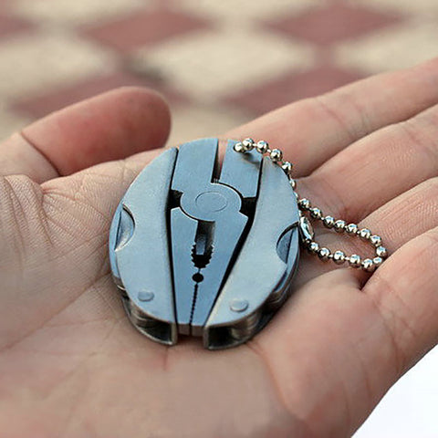 Outdoor Mini Foldaway Multi Function Tools Set Pocket Key-chain