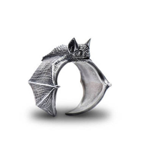 Elfin New Vintage Adjustable Bat Rings Fashion Cute Bat Jewellery Bradypus Ring For Women Men Anillos Mujer Warcraft