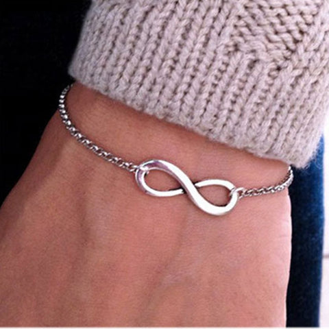 New Fashion Infinity Bracelet for Women Bracelet Number 8 Bracelet Eight Shape Charm Bracelets Bangles For Women Pulseras