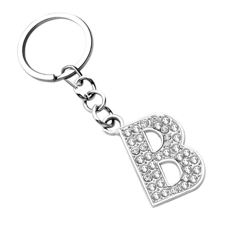 Silver Letter Pendant key-chains key-rings