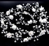 120cm Bridal hair accessories handmade Flower wedding Accessories Long Hair Vine Headband Bridesmaids Hair jewelry for women
