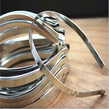 10pcs/lot Rhodium/Gold Color Width 5mm Head Bands Stainless Steel Hair Bands Hairwear Base Setting DIY Jewelry For Women Z528