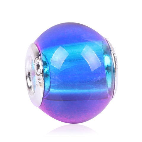 Gradient Rainbow New Arrive Gradient European Fashion Charms Murano Glass Beads Fit Style Charms Bracelets For Women