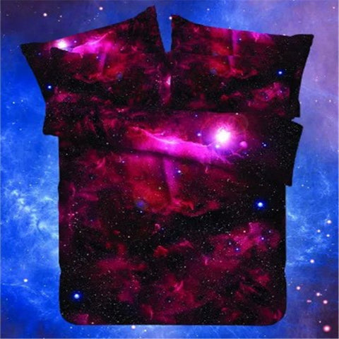 Galaxy 3D Comforter Bedding Set Duvet Cover Set Single Double Full/Queen Size Bedding Universe Outer Space Themed Bed Linen