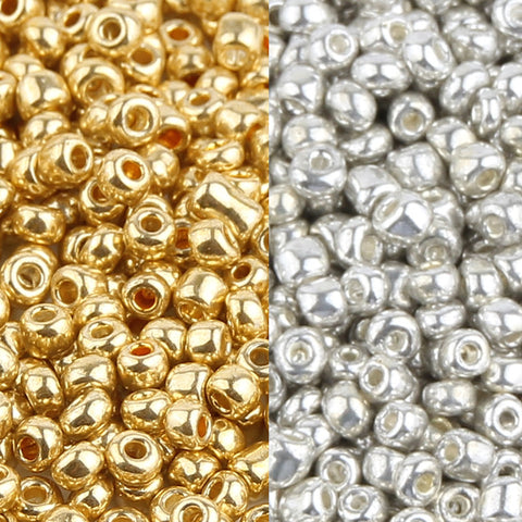 Silver/Gold 2/3/4mm Jewelry Crystal Glass Beads Spacer Beads for Jewelry Making DIY Necklace Bracelet Czech Seed Beads