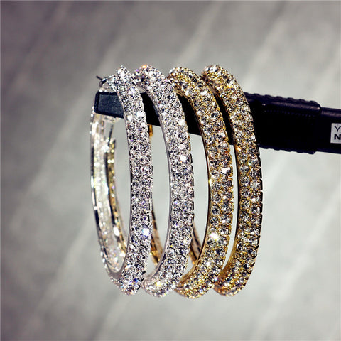 Hotsale new multi layer cubic zircon micro paved full CZ hoop earrings for women jewelry