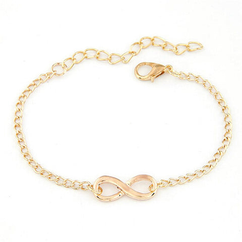 HOT Brand Fashion New Women Men Handmade Gift Charm 8 Shape Jewelry Infinity Bracelet