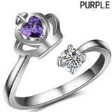 New Fashion Silver Plated Queen Crown Adjustable Ring Wedding Ring For Women Fashion Christmas Gift