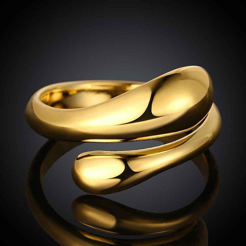 shipping 3 colors silver/gold rose golden women & men open rings resizable water ring aliancas party wedding ring