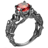 UFOORO Ghost evil Skull skeleton Hand CZ Ring Punk Men engagement Ring 5 - 12 royal blue black pink green men's jewelry