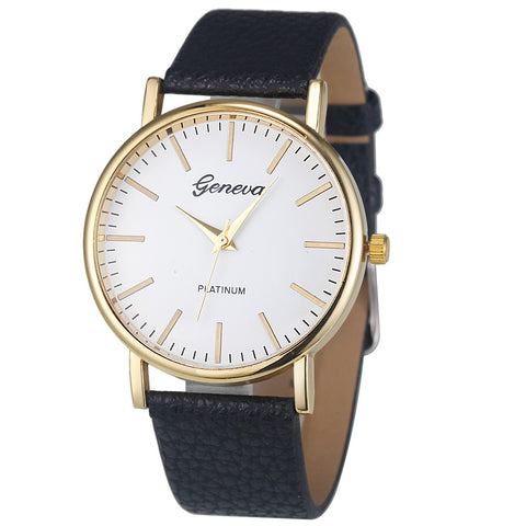 Lovesky Fashion Geneva Watch Women Simple Leisure Analog Leather Quartz Wrist Watches Luxury Brand Dress Women Watch Clock