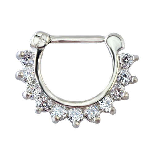 1pcs Charming Clear Round Zircon Jewelry Septum Ring Hinged Septum Jewelry Septum For Women