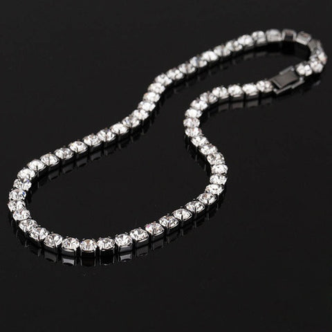 Fashion Style New Elegant Dazzling Sliver Color Choker Necklace Luxury Tennis Chain Necklace For Women Jewelry Gifts