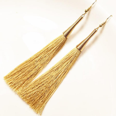 Hot Long Dangle Tassel Earrings Women Fashion Jewelry Gold Metal Earrings For Gifts