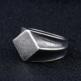 steel soldier new Geometric hexagon design style men ring stainless steel high polish exquisite jewelry