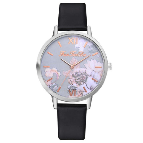 Women's Watch Printed Flower Print Analog Alloy Watches Causal Quartz Analog Wristwatch relogio masculino shipping 35