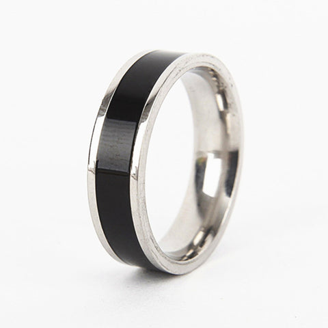 Hot Selling! Punk Accessories 6mm Stainless Steel Magic Glue Ring For Men Woman Classic Wedding Party Jewelry Exquisite Gifts