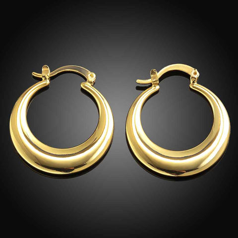 Kiteal new Jewelry casual circle ear hoops hoop earrings gold color rose golden Zircon earing brincos
