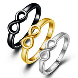 New Fashion Infinity Ring Statement Jewelry Banquet for Women Designer Brand Rings For Women Wedding Party Accessories