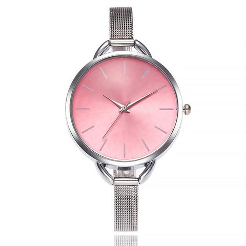 Reloj hombre Watch Women Watches Mesh Stainless Steel Fashion Discount Female Clock Rhinestone Crystal Relogio relojes