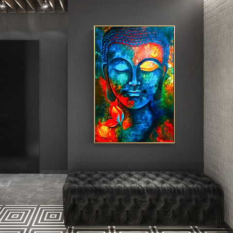 Modern Buddhism Posters and Prints Wall Art Canvas Painting Wall Decoration Lord Buddha Pictures For Living Room Wall Frameless