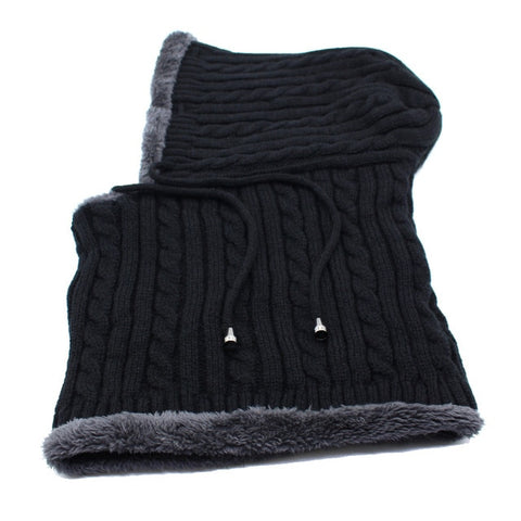 Knitted Hat Beanie Men Scarf Beanies