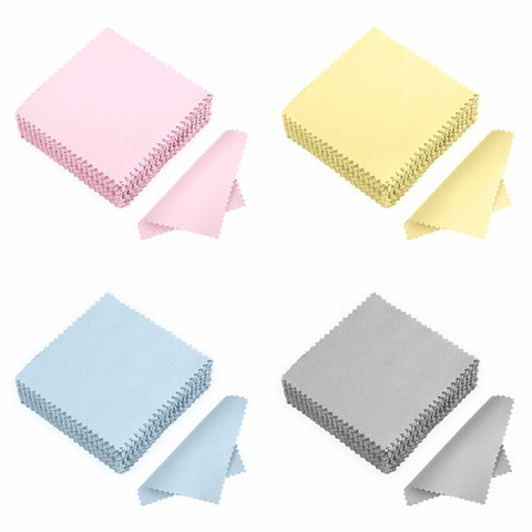 50Pack Polishing Jewelry Cloth Silver Polish Tool Silver Jewelry Cleaner Anti-tarnish Square Jewelry Cleaning Cloth #236383