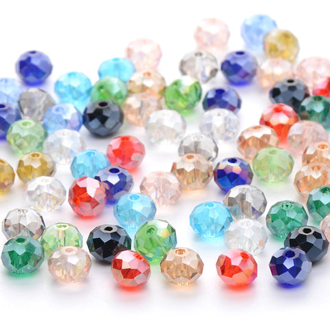 Mix colour Flat Round Shape Upscale Austrian crystal Glass beads 300pcs