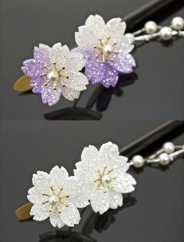 1 Pcs Retro Natural Fashion Cherry blossoms Hairpin Headdress Handmade vintage Women Wedding jewelry Chinese Hair Stick Gift