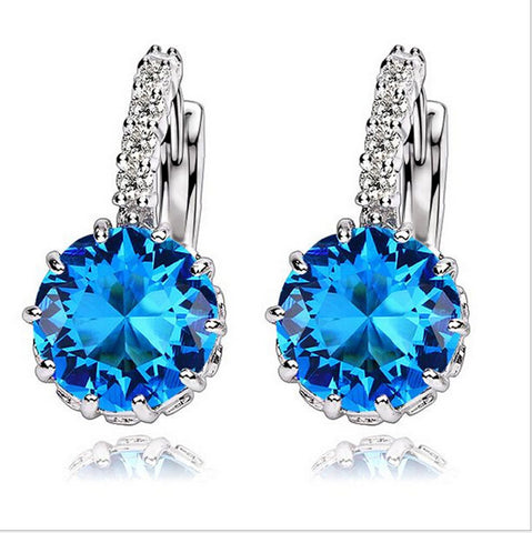 MISANANRYNE High Quality 9 Colors Cubic Zirconia Earrings For Women Fashion Wedding Jewelry Earring