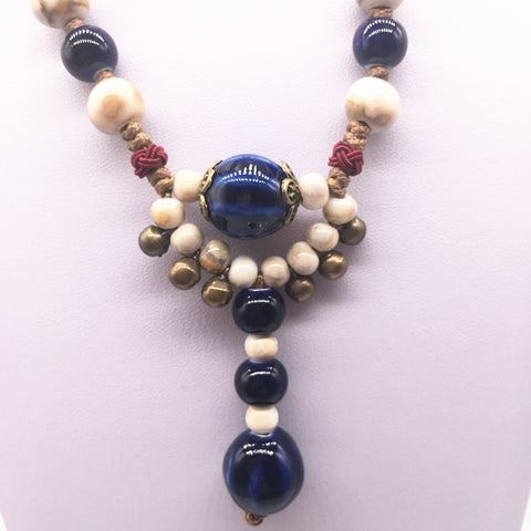 Fashion Ceramics Beads Pendant Bohemia style Long Necklace Chain Jewelry Style DIY