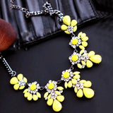 2015 New High quality gift gold necklace chain Shourouk Vintage Rhinestone Bib necklaces women statement jewelry
