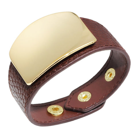 Fashion Lady Jewelry Genuine Leather Bangle in Six Colors Accept Customer Designs New Cuff Bracelet
