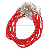 100pcs 19cm Lobster Clasp Braid Rope Blank Man-made Leather Bracelet For Men Women Jewelry Diy Accessoires Making Wholesale