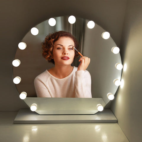 10LEDs Dimmer USB Novelty lights USB port Makeup Mirror LED Lights 10 Hollywood Vanity Light Bulbs for Dressing Table