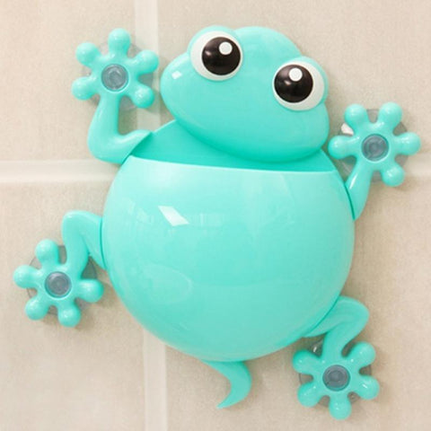 NEW Bathroom Tool Cartoon Gecko Model Toothbrush Toothpaste Holder Sucker Type Toothbrush Holder