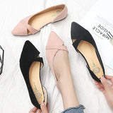 Women Flats Woman Single Shoes Ballet Flats Shoes Pointed Toe Flat Shoes Slip-On Shallow Cross-Tie Comfort Pregnant Woman Shoes