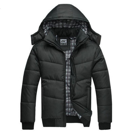 Classical Casual Slim Cotton With Hood Parka