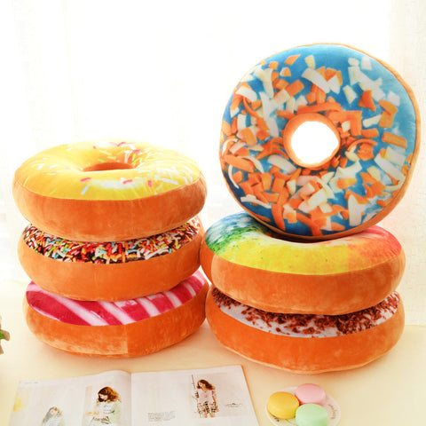 1Pcs Xmas 40cm Sofa Decorative Cute Simulation Cushion Soft Plush Pillow Stuffed Seat Pad Sweet Donut Foods Cushion Case Toys