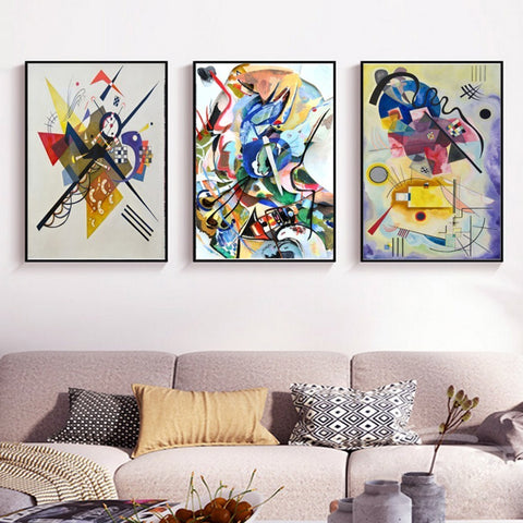SURE LIFE Vintage Famous Abstract Printing Canvas Paintings Wassily Kandinsky Poster Wall Art Picture for Living Room Home Decor