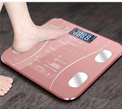 New Touch button Bathroom Weight Scale lcd Smart Body Balance Electronic Scales Clever bmi Body Fat Level Muscle Bone Protein