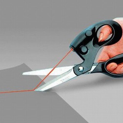 Laser infrared scissors  Multifunctional scissors for paper cutting , Laser Scissor easy to cut a straight line