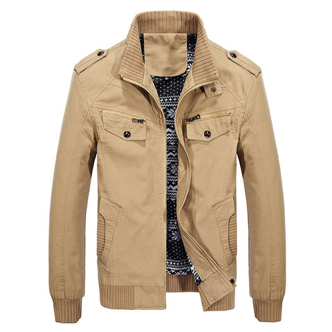 The new 2018 military recreational coat big yards men's jacket made of pure cotton jacket