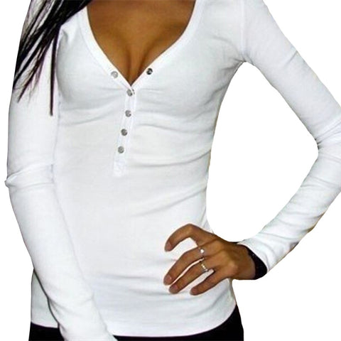 INDJXND Elegant V-Neck Splice Long Sleeve Button Cotton Shirts Sexy Tops Casual Slim Shirts Women's Clothing Large Size Blusas