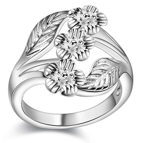 carved high quality leaf Wholesale 925 jewelry silver plated ring , jewelry Ring for Women, /XHUDIJPI ZEMMEHXL
